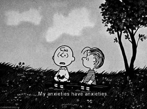 Charlie Brown Dealing With His Anxiety On Top Of Anxiety
