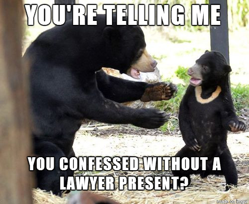 confession bear meme is in deep water for all his confessions