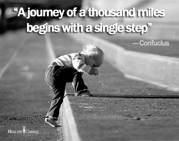 inspirational confucius quote on taking the first step to