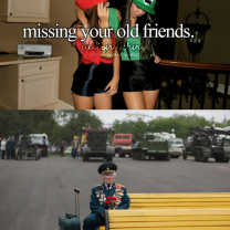 Missing Your Old Friends, Just Girl Things Meme Fail