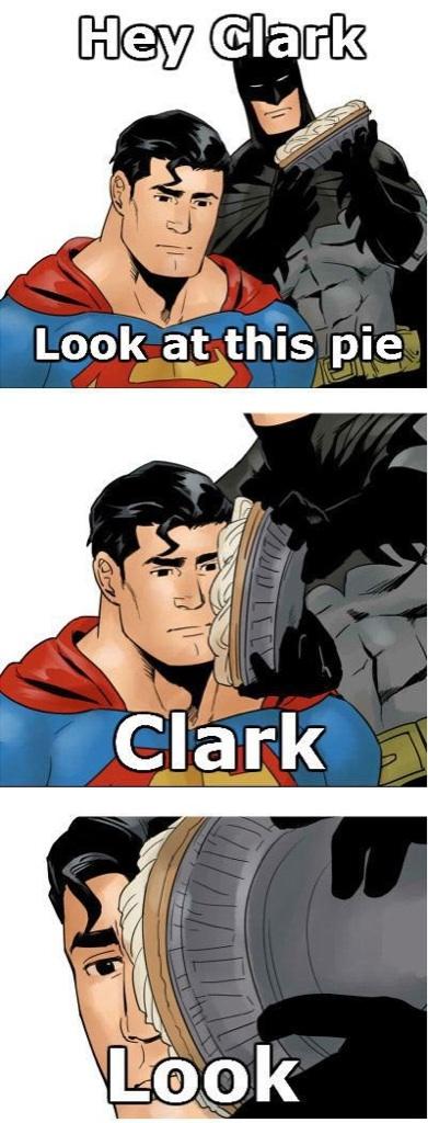 Sad Superman Doesnt Want Any Of Batmans Pie Meme Comic sad superman doesn't want any of batman's pie meme comic