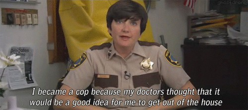why did you become a cop on reno 911