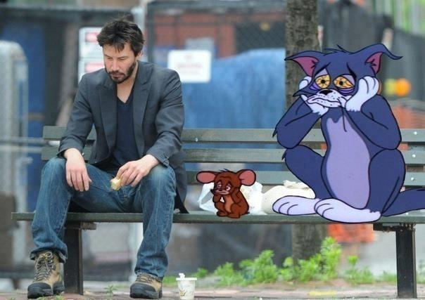 Sad Keanu Reeves Meme Hanging Out With The Miserable Tom Jerry sad keanu reeves meme hanging out with the miserable tom & jerry