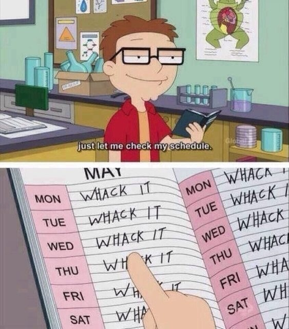 steve s holiday schedule is all booked up on american dad