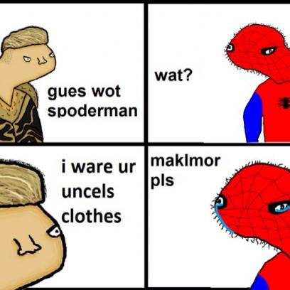y u do dis to spider man macklemore