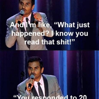 Aziz Ansari Stand Up On Texting a Girl That Doesnt Text Back_408x408 aziz ansari stand up on texting a girl that doesn't text back