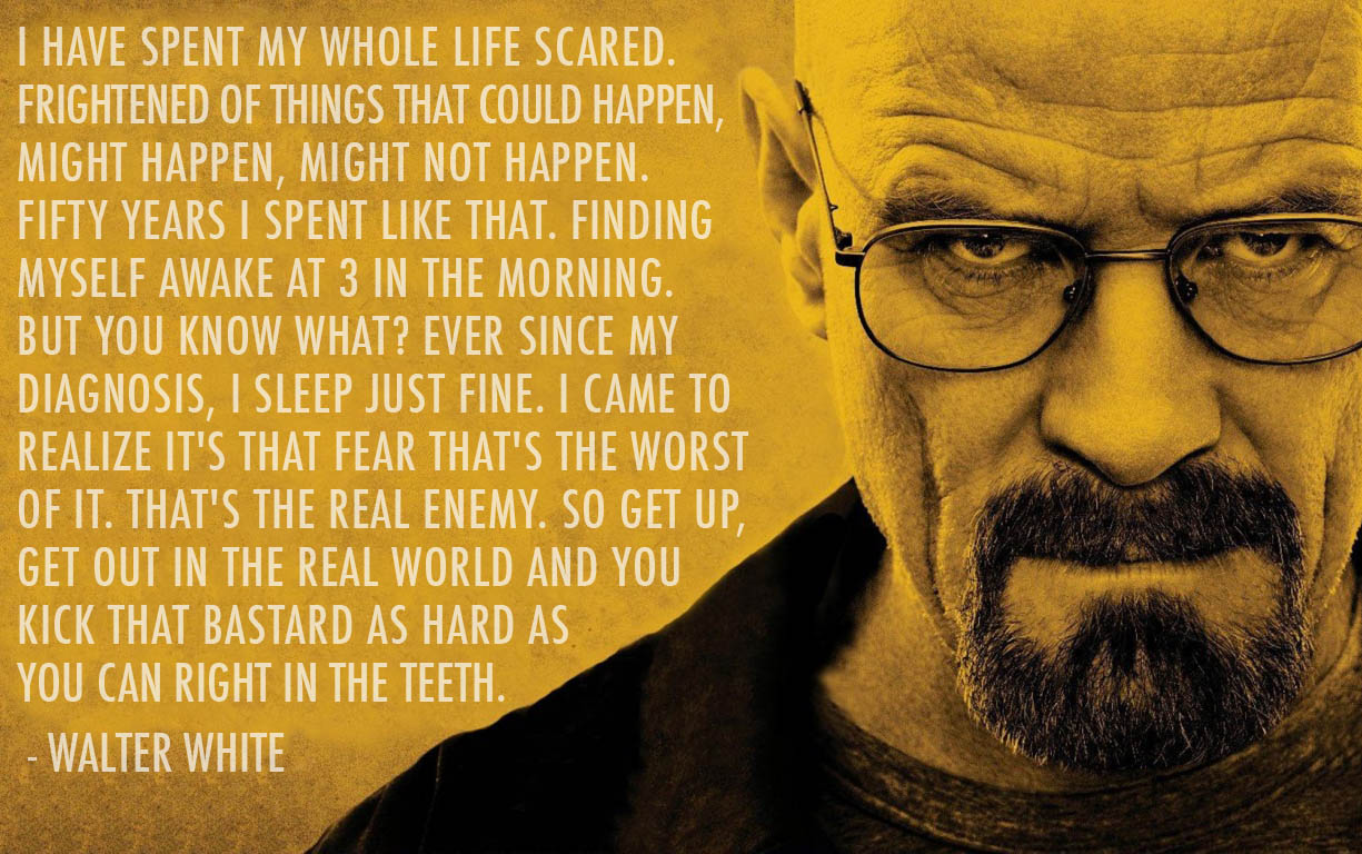 Walter White Quote On Spending Your Whole Life Being Scared In Breaking Bad