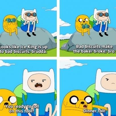 Adventure Time's Finn & Jake Make Some Lame Puns Before