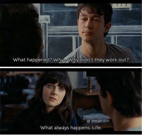 Out In 500 Days Of Summer Zooey Deschanel 500 Days Of Summer Quotes