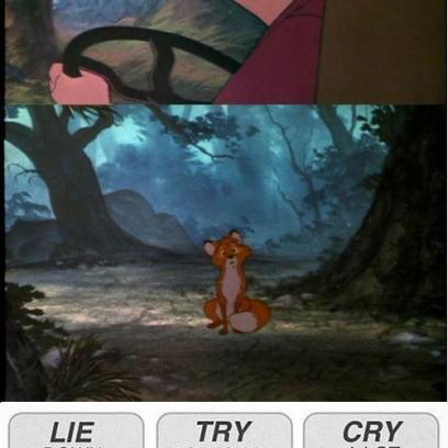Sad Fox And The Hound Movie Moment Meme
