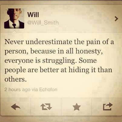 Will Smith Quote On Underestimating The Pain & Struggle Of ...