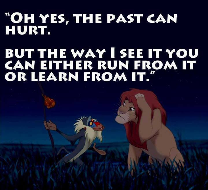 Rafiki Teaches Simba The Past Can Hurt With A Smack To The